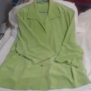 Lime green silk shirt